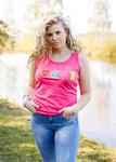 Roze dames Tanktop/hemdje I Love Tractors & Bier