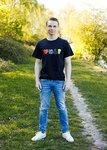 Zwart T-shirt I love Tractors & Bier