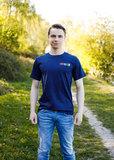 Blauw T-shirt I love Tractors & Bier_