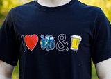 t-shirt I Love Tractors & Bier