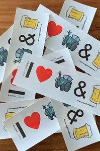 Sticker I Love Tractors & Bier